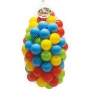 Шарени детски топки в мрежа - 100 броя, DOLU, 8690089031617