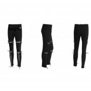 Pantalon De Tela Mujer - Negro