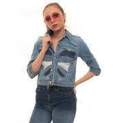 Red Valentino Giubbino in jeans Denim medio Cotone Donna