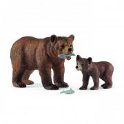 Grizzly medve anya és bocs Schleich