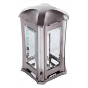 Lantaarn Luxe Design vierkant glimmend zilver (L-01m)