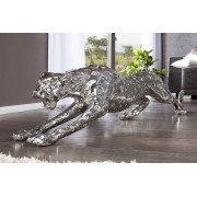 Dekorácia Burke leopard 145cm antická strieborná
