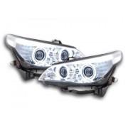 FK-Automotive fari Angel Eyes CCFL xeno BMW serie 5 E60/E61 anno di costr. 03-04 cromato