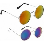Just Style Round Sunglasses(Multicolor)