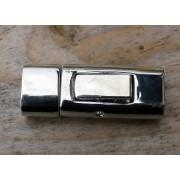 Lås silverfärgat - Modell till breda runda band 10x5mm, 1 set