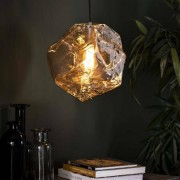 Dimehouse Industriële hanglamp Rocks chrome glas