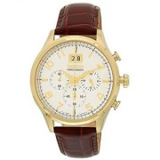 Seiko Brown Leather Round Dial Quartz Watch For Men (SPC088P1)