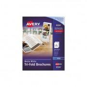 Tri-Fold Brochures For Inkjet Printers, 8 1/2 X 11, White, 100 Sheets/box