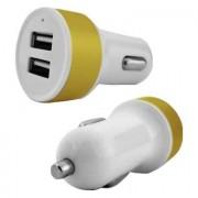 Cargador Dual USB para auto, blanco/dorado genérico 240020D