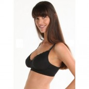 New Beginnings Ugrow Microfibre Breast Feeding Bra Black M