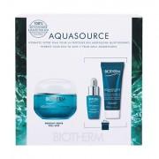 Biotherm Aquasource confezione regalo crema viso giorno 50 ml + siero viso Life Plankton 7 ml + balsamo viso notte Aquasource Night Spa 20 ml