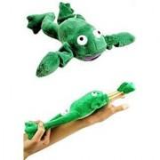 Flingshot Frog Flies With A Crooooaaaak! Just Pull Him Back And Let Him Fly! Flingshot Flying Frog Ages 4 & Up - Slingshot Flying Frog
