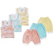 Jo kids wear Baby Boy Cotton Dress Set (Top and 3/4th Pant) Multi Color Set of 3 (1015)