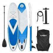 Klarfit Spreestar Tabla hinchable de paddle surf Set de tabla SUP 300 x 10 x 71 Azul y blanco (FITN2-Spreestar-B)