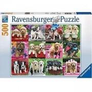 Пъзел Ravensburger 500 елемента, Колаж кученца, 701105