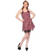šaty dámské BANNED - Pink Skull And Roses - DBN526D.PI