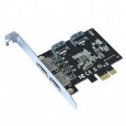 Card PCI-Express extensie pentru 2x eSATA + 2x SATA3 6.0 Gbps HOPE R