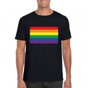 Shoppartners Regenboog vlag shirt zwart heren