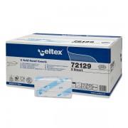 Rezerva prosoape pliate, Celtex, V Smart, 2 straturi, alb, 200 buc/pachet, 15 pachete/cutie