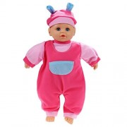 Cosway Children Kids Girls Pretend Play Soft Nurturing First Baby Doll with Feeding Bottle in Clothing
