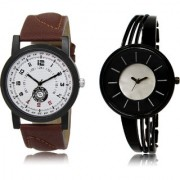 The Shopoholic White Black Silver Combo Latest Collection Fancy And Attractive White And Black And Silver Dial Analog Watch For Boys And Girls Watches For Girls Stylish