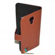 Toc Portofel Piele Ecologica Samsung i9190 Galaxy S4 Mini Maro
