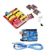Sun Grabador V3.0 CNC Escudo + Placa + DRV8825 Motor paso a paso para UNO R3 para Arduino