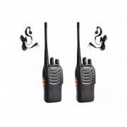 Set 2 Radio Transmisor Walkie Baofeng 888s + 2 Manos Libres