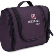 Chris & Kate Travel Toiletry Kit Portable Cosmetic-Makeup-Bathroom kit Bag   shaving Kit Organizer Bag for Men   Travel Toiletry Kit(Purple)