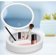 Kozmetikai tároló-tükörrel