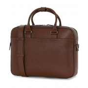 Tiger of Sweden Burin Grained Leather Briefcase Brown