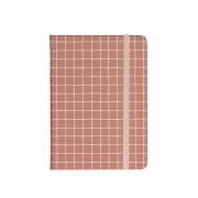 Dille&Kamille Carnet de notes, rouge quadrillé, 15 x 10 cm