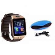 Zemini DZ09 Smartwatch and Rugby Bluetooth Speaker for SAMSUNG GALAXY WIN PRO(DZ09 Smart Watch With 4G Sim Card Memory Card  Rugby Bluetooth Speaker)