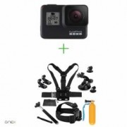 GoPro HERO7 Black - Comenzi vocale Stabilizare video Wi-Fi GPS Rezistent la apa 4k601080p240 + MINI PACHET de Accesorii