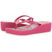 Polo Ralph Lauren Borolla Wedge (Little KidBig Kid) PinkYellow Multi Floral