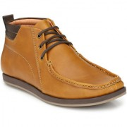 Afrojack Men's Oakwood Synthetic Leather Ankle Boots (7 tan)