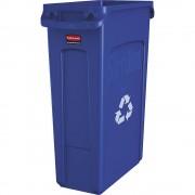 Rubbermaid Wertstoffsammler aus Kunststoff Volumen 87 l, BxHxT 279 x 762 x 558 mm, Lüftungskanäle blau