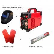 Pachet Aparat de Sudura Complet LV 200 - Masca Automata-Palmari Piele-Eloctrozi
