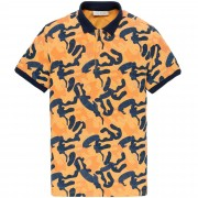 Cast Iron Short sleeve polo jersey pique buff orange