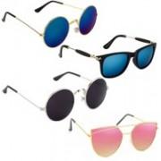 Vitoria Wayfarer, Round, Butterfly Sunglasses(Multicolor)