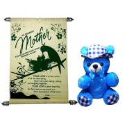 mothers day gifts from daughter - Mother's Scroll Greeting Card and Cute Soft Teddy
