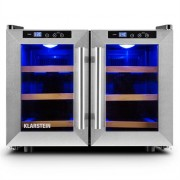 Klarstein Reserva Saloon Beer Wine Refrigerator 12 Bottles 40 Litre Stainless Steel LED