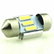 Autós led Sofita Canbus rendszám világítás, 3 led, 31 mm, 70 Lumen, 5730 chip, 1W, hideg fehér. Life Light Led 2 év garancia!