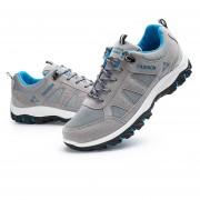 Zapatos De Deportes De Los Hombres Estilo Coreano Zapatos Casuales Moda Respirable-Gris
