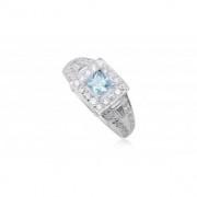 Ezüst gyűrű világoskék cirkónia kristállyal-8