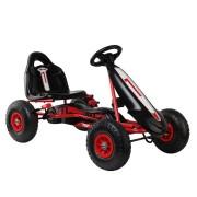 RIGO Kids Pedal Go Kart Car Ride On Toys Racing Bike Red