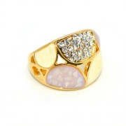 Swarovski kristályos dizájner gyűrű, arany színű-6