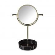 Xenos Spiegel marmer -zwart/goud - 23x25x33 cm