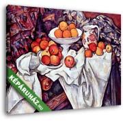 Paul Cézanne: Csendélet almával és naranccsal (30x25 cm, Vászonkép )