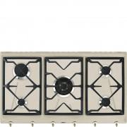 SMEG SRV896AVOGH2 Piano Cottura a Gas 5 Fuochi Avena Estetica Coloniale
